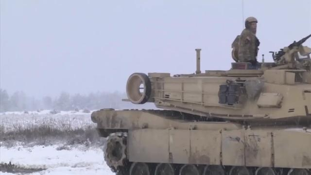 Tank and Bradley Fighting Vehicle crews from the US military on Wednesday conducted live-fire training exercises in Swietoszow, Poland. The military said it would look to eventually tie in Polish NATO partners to their exercises. (Jan. 17)