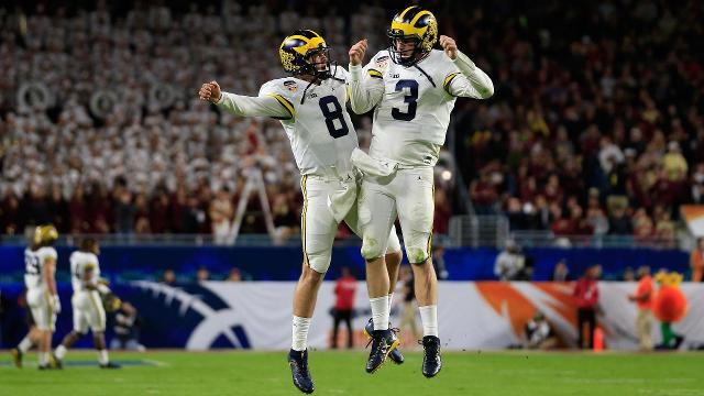 Michigan football head coach Jim Harbaugh will take his team to the Rome at the end of the winter semester in April, the university announced.