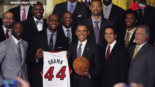 The sports teams that have visited the Obama White House