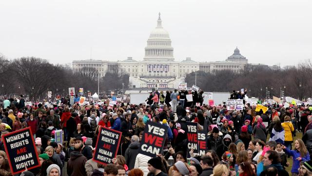 Hundreds of thousands of people marched in Washington D.C., and in over 600 'sister marches' across the world in solidarity.