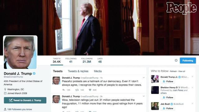 Trump tweeted his reactions to Saturday's protest events.