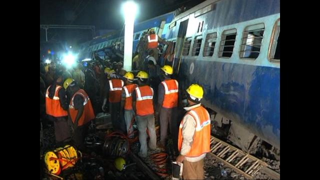 Rescuers battle to pull survivors from the wreckage of a train crash which killed dozens passengers in southern India, the latest in a series of disasters on the country's creaking rail network. Video provided by AFP