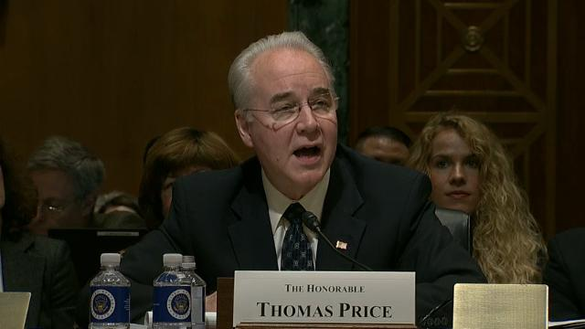 Laughter erupts at Price's hearing as health care mentioned
