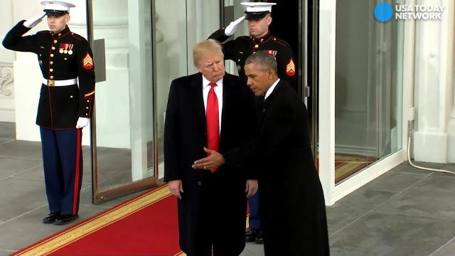 The Obamas and Trumps left the White House together for Trump's inauguration.