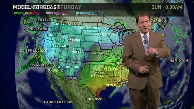 Saturday's forecast: Precipitation across the country