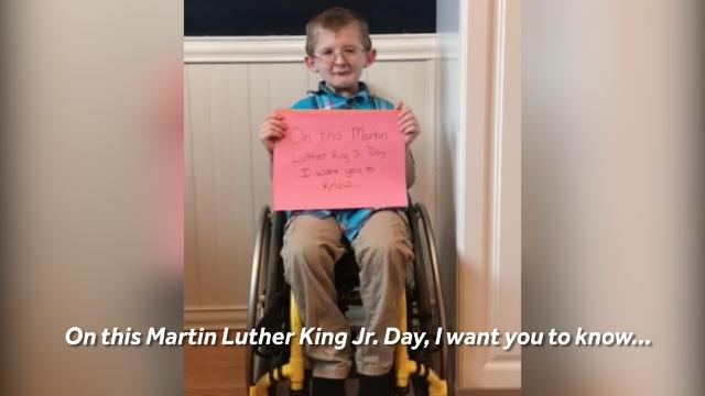 This remarkable boy has an important message for us on MLK Jr. Day