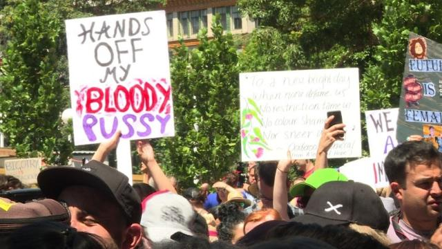 Thousands of Australians take to the streets in reaction to Donald Trump's inauguration, kicking off the Women's March day of global protest against the new US president. Video provided by AFP