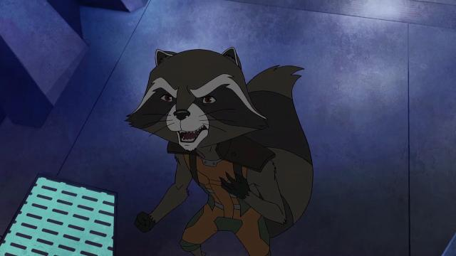 The intergalactic misfits run into problems when they try to take too much stuff from Earth in this exclusive animated short from 'Marvel's Guardians of the Galaxy,' which premieres its second season March 11.