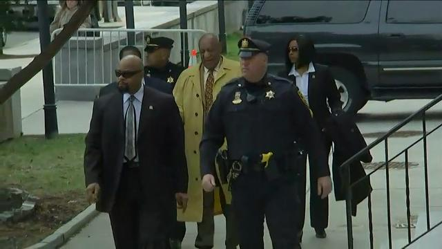 Actor Bill Cosby is back in a Pennsylvania courtroom Monday as his legal team asks a judge to bring in outside jurors for his criminal sex assault trial. (Feb. 27)