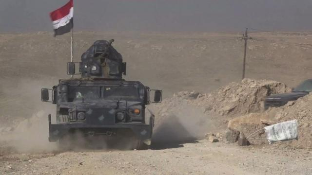 Iraqi forces ready for an assault on Mosul airport after blitzing jihadist positions in a renewed offensive to retake the Islamic State group's emblematic stronghold.