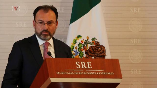 Mexican Foreign Minister Luis Videgaray said Mexico did not have to accept the Trump administration's new immigration policies and would resist them if necessary. Matt Hoffman reports.