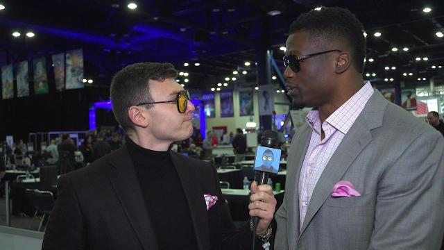The Schmo and Ben Watson show off their shades