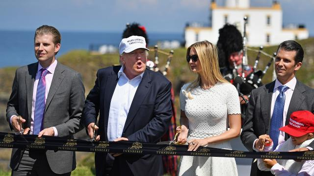 Taxpayers Pay For Trump S Family S Business Travel