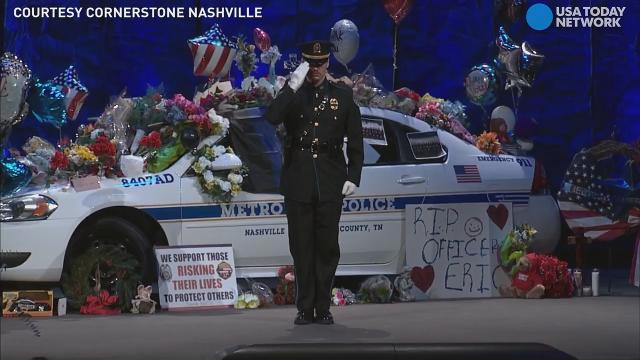 Nashville honors fallen cop who died trying to save woman