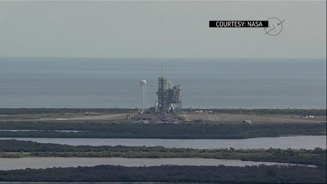 SpaceX will have to wait at least another day to launch from NASA's historic moon pad. Last-minute rocket trouble forced SpaceX to halt Saturday's countdown at Florida's Kennedy Space Center. (Feb. 18)