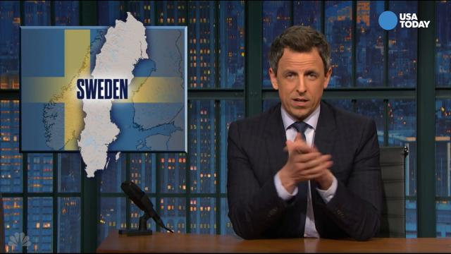 The late-night comics pay tribute to the attack in Sweden that never happened. Take a look at our favorite jokes, then vote for yours at opinion.usatoday.com.