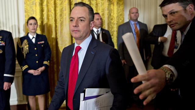 Reince Priebus reportedly asked the FBI to denounce claims that members of President Trump's team had contact with Russia.