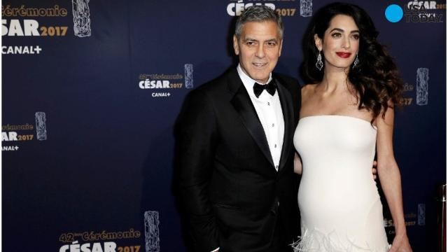 George and Amal Clooney stole the spotlight at the César Awards in France on Friday night. The couple, who recently announced that Amal is pregnant with twins, attended the 42nd annual Cesar ceremony in Paris.