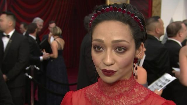 Ruth Negga felt support from far away on Oscars carpet