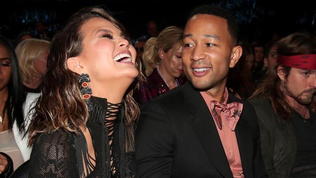 Chrissy Teigen's post-Grammys Snapchats were adorable