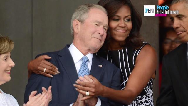 George W  Bush on his unlikely friendship with Michelle Obama