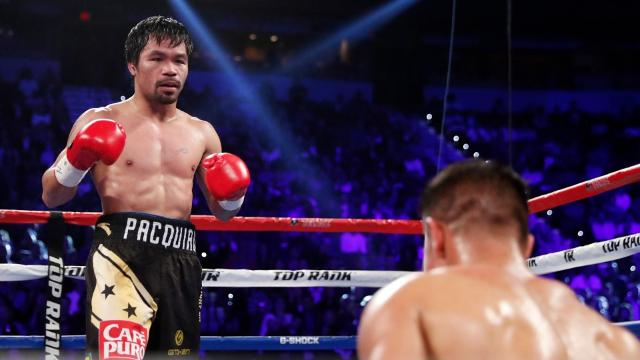 """(CNN)Boxing legend and Filipino senator Manny Pacquiao has announced a date for this next fight -- April 23 -- against former British lightweight Olympic champion Amir Khan. Khan, who won a silver medal in 2004, confirmed on Twitter that his team had agreed to Pacquiao's terms and would meet him for a """"super fight."""" Pacquiao last year won two consecutive victories, defeating Timothy Bradley in April and then emerging with a win against Jessie Vargas in November. Pacquiao is a firm political ally of Philippines president Rodrigo Duterte, and has often been discussed as a future presidential candidate."""