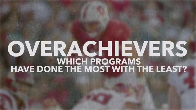 Overachievers: Which college football programs have done the most with the least?
