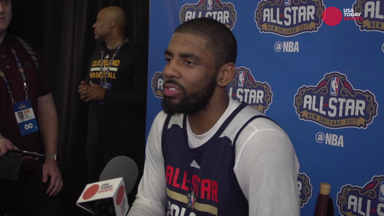 Kyrie Irving argues with reporter over 'flat earth' comments