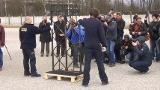 Raw: Stolen Gate From Nazi Dachau Camp Returned
