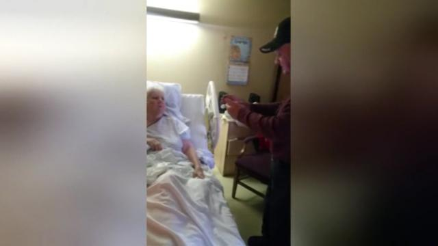 Husband serenades wife of 61 years as she recovers from stroke