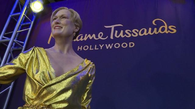 A renewed wax figure of Meryl Streep is unveiled in Hollywood, a few days before the Oscars, marking her record-breaking 20 nominations. Video provided by AFP