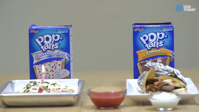 Kelloggs is going to turn its breakfast cereal bar in New York  over to Pop-Tarts next week. Chefs will make dessert items with names like Pop-Tarts tacos, burritos and pizza. Video by Anne-Marcelle Ngabirano and Eli Blumenthal
