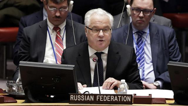Russian officials say its ambassador to the United Nations has died suddenly in New York City. Vitaly Churkin was 64.