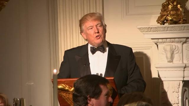 President Donald Trump toasted that nation's governors and their spouses at the Governors Ball, an annual black-tie gala at the White House. (Feb. 26)