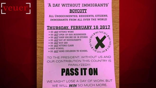 The campaign 'a day without immigrants' is sweeping the nation