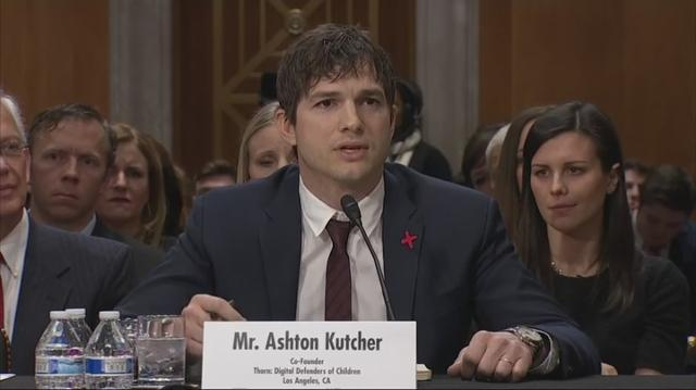 Ashton Kutcher is doing his part to eradicate sex trafficking. Testifying at a Senate hearing, the actor became emotional as he spoke about what he has witnessed world-wide in his effort to fight sexual abuse.