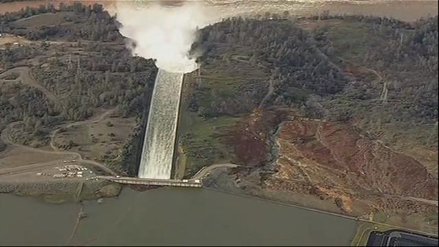 Officials assess water damage at Oroville dam
