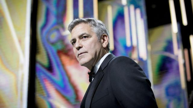 George Clooney received an honorary award at Friday's 42nd César ceremony in Paris and used his speech as a platform to speak out against President Donald Trump.