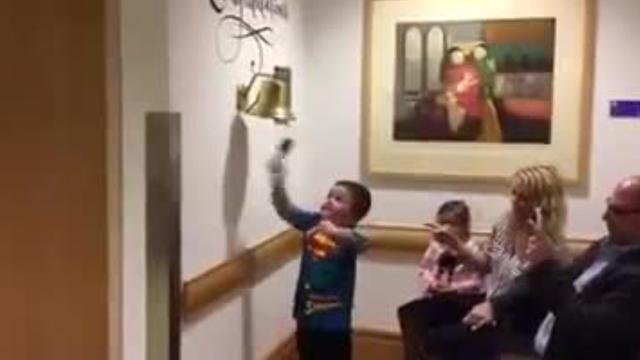 Little boy celebrates end of chemo with awesome dance