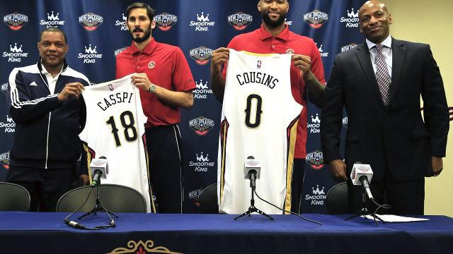 DeMarcus Cousins introduced as a New Orleans Pelican