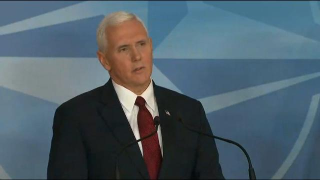 "Vice President Mike Pence says he was ""disappointed"" to learn that former National Security Adviser Michael Flynn had withheld information from him but supports President Donald Trump's decision to dismiss him. (Feb. 20)"