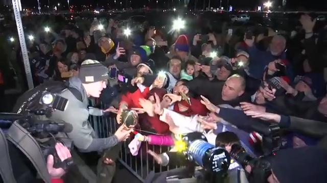 Patriots arrive home after Super Bowl win