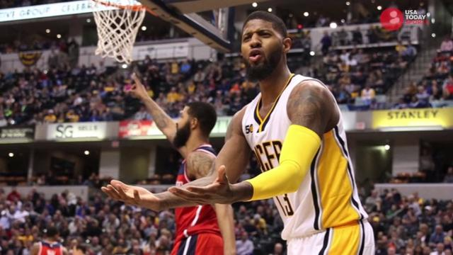 Paul George dishes on trade rumors and finds out that he's the first athlete to appear on a certain candy box.