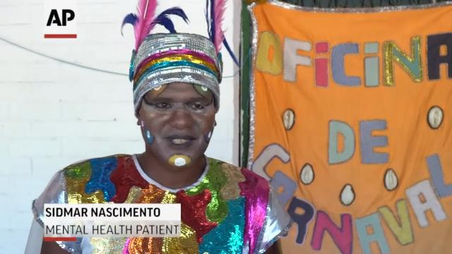 "Patients at Rio's Nilse da Silveira mental health institute joined in the carnival celebration. Together with doctors, family and friends, patients paraded down the street for the party known as ""Suburban Madness."" (Feb. 24)"
