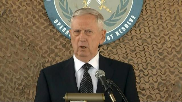 Secretary Mattis Makes Unannounced Trip to Iraq