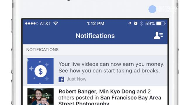 Get paid for going live on Facebook