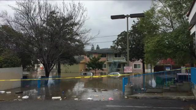 Calif. rescue workers are evacuating people from a San Jose neighborhood after flood waters from an overflowing creek inundated a residential area. (Feb. 21)