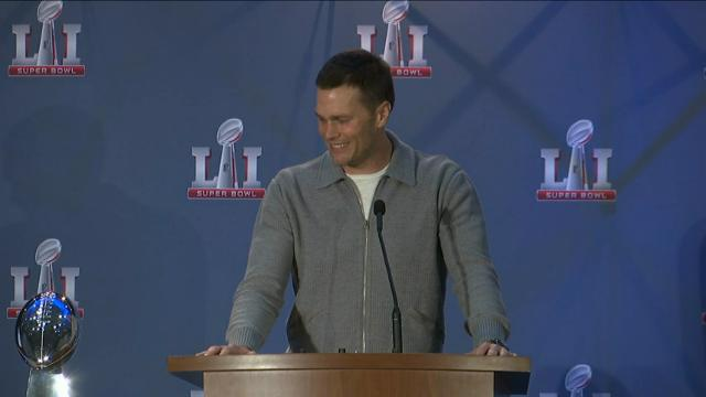 Tom Brady Receives Fourth Super Bowl MVP Trophy