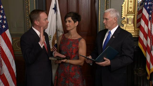 Mulvaney Sworn In as White House Budget Director
