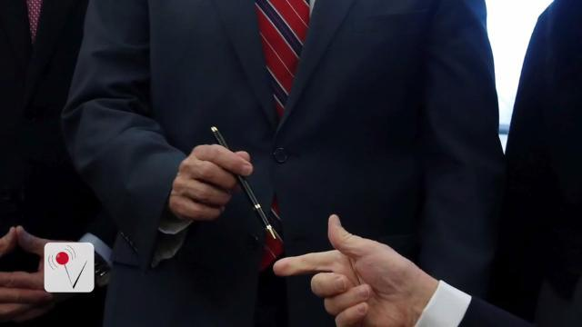 Trump may be running out of fancy pens